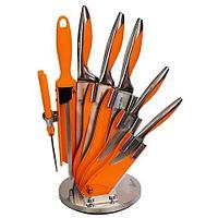 Набор стальных ножей с литыми рукоятями на подставке HATCHEN {8 предметов} (Оранжевый), фото 1