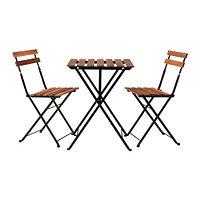 Стол+2стула, д/сада ТЭРНО черный акация ИКЕА, IKEA, фото 1