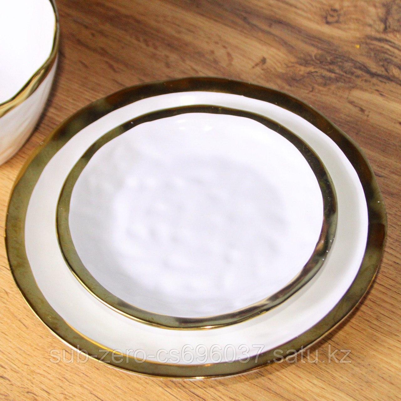 Тарелка десертная «Белое золото»