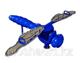 Детская качеля балансир, синяя, в видео стрекозы