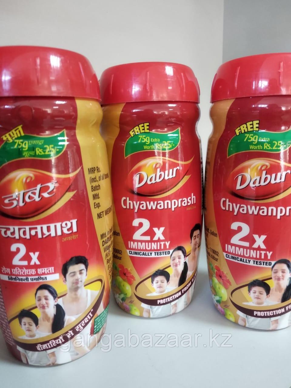 Чаванпраш 2Х  Двойной иммунитет (Chyawanprash 2X, Dabur) - для оздоровления, укрепления организма , 575 гр