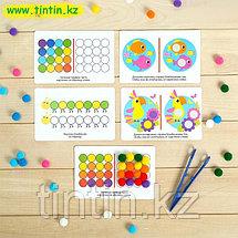 Развивающий набор «Цветные бомбошки: сложи по образцу», цвета, счёт, фото 2