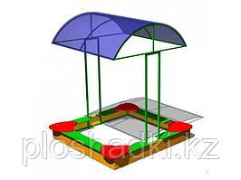 Песочница детская, с сидениями, с крышей