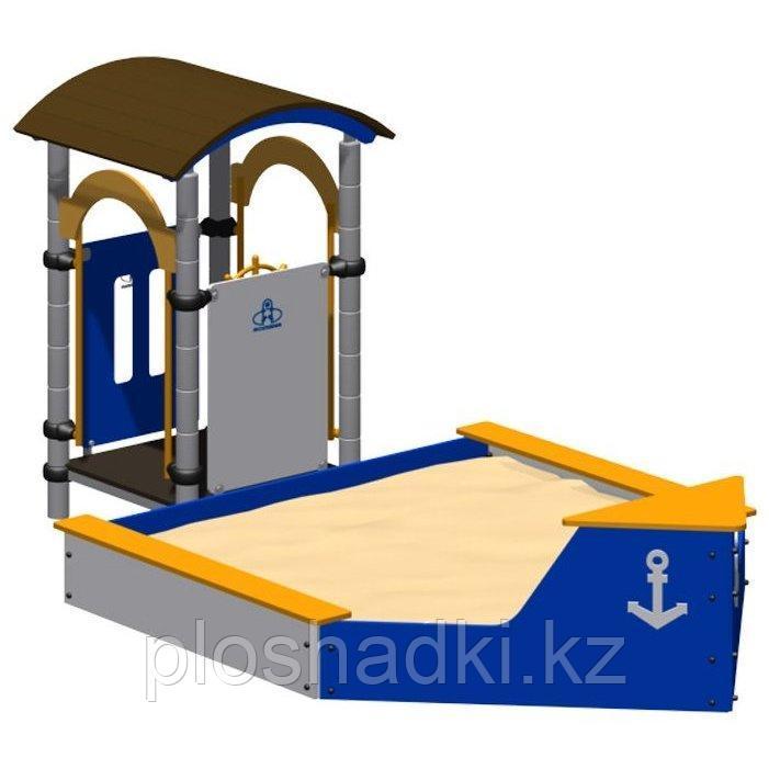 Песочница «Корабль» Romana, домик с крышей