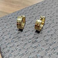 Серьги-кольца из желтого титана