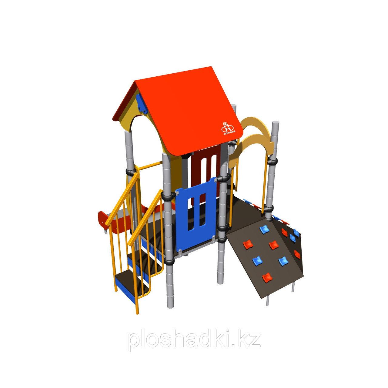 Игровой комплекс Romana, с лестницей, скалодромом, горкой