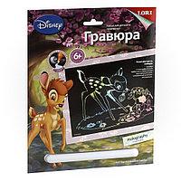"""Грд-023 Гравюра Disney большая с эффектом голографик """"Бэмби и Топотун"""""""
