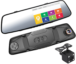 Зеркало-видеорегистратор INCAR VDR-U09 с камерой заднего вида