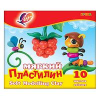 """Пластилин мягкий восковой """"Кроха"""" 10 цв."""