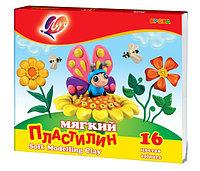 """Пластилин мягкий восковой """"Кроха"""" 16 цв."""