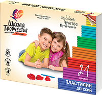 """Пластилин детский """"Школа творчества"""" 21 цв."""