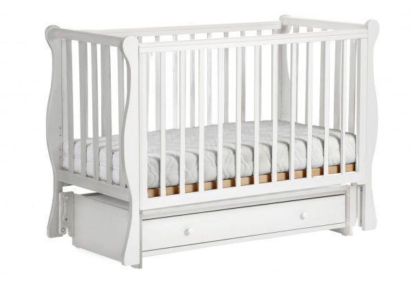 Детская кровать ЛЕЛЬ КУБАНОЧКА-4 маятниковая Белый