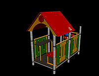 Домик Romana, с крышей, сидениями, счётами