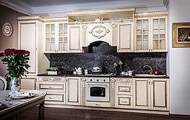 ВЕРОНА кухонный гарнитур, прямая, крем