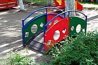 Дворовые изделия мостик переход из дерева, металла