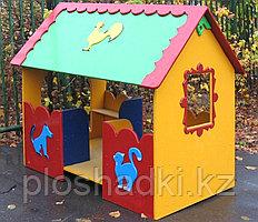Домик детский, с крышей, сидениями