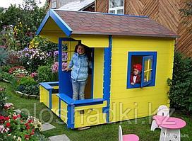 Домик детский с крышей, сидениями, открывающимися окнами