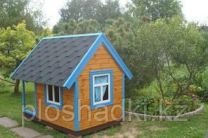 Домик детский с крышей, деревянный