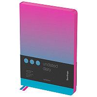 """Ежедневник недатир. A5, 136л., кожзам, Berlingo """"Radiance"""", розовый/голубой градиент, фото 1"""