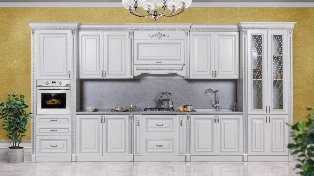 АМАНТА кухонный гарнитур, 4,6м серебро