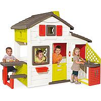 Домик игрушечный JURA, пр-во Франция. Домик, сад, столик со скамейками. 2 двери, ставни на окнах