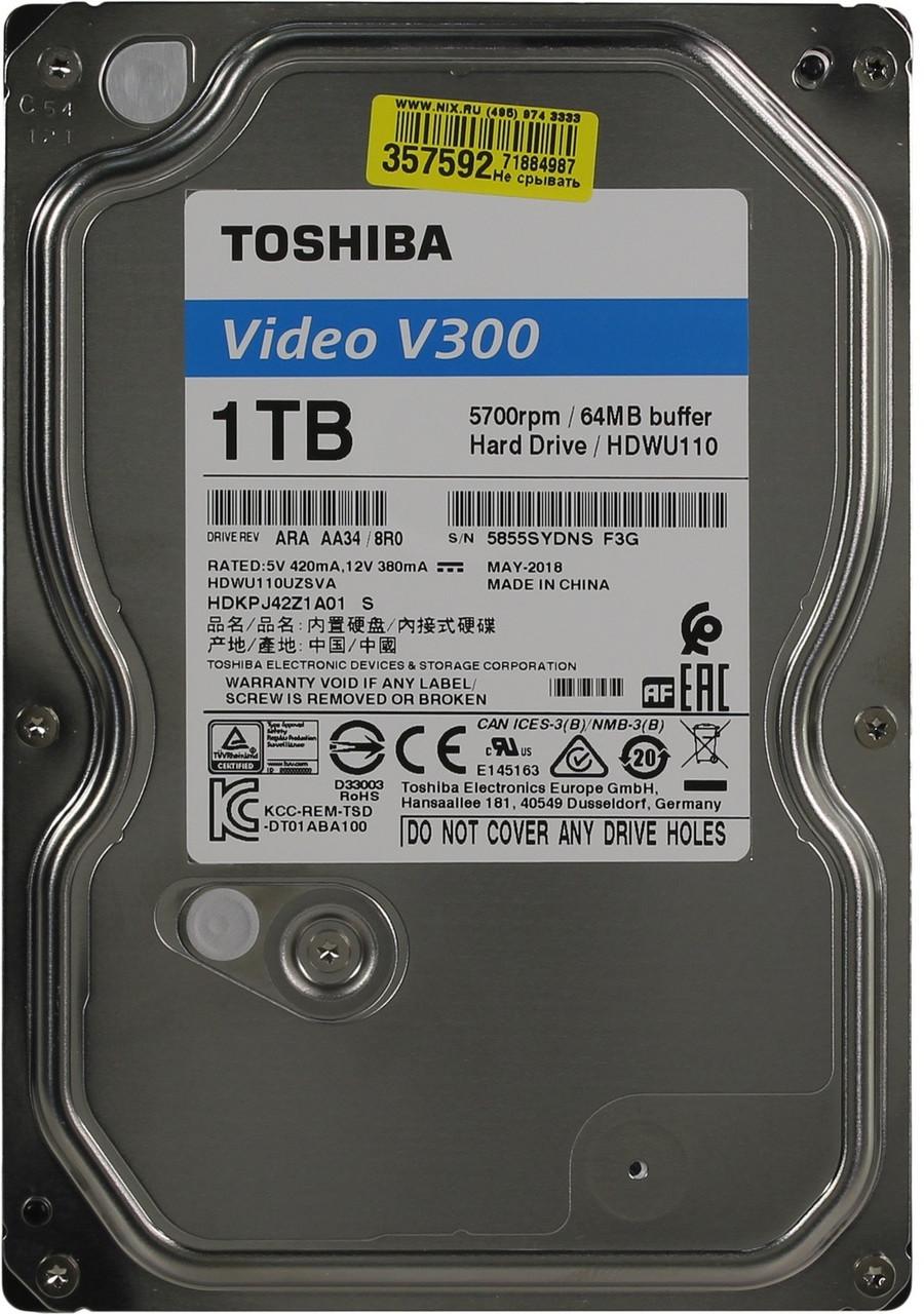 """Жесткий диск TOSHIBA V300 для видеонабюдения HDD 1Tb (3.5"""")"""