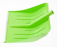 Лопата для уборки снега пластиковая, зеленая, 400 х 420 мм, без черенка, Россия Сибртех