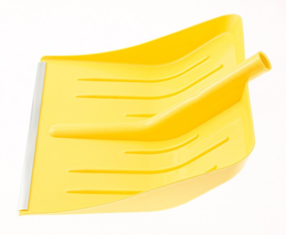 Лопата для уборки снега пластиковая, желтая, 400 х 420 мм, без черенка, Россия Сибртех