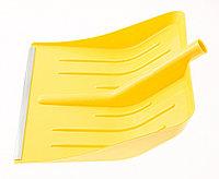 Лопата для уборки снега пластиковая, желтая, 400 х 420 мм, без черенка, Россия Сибртех, фото 1