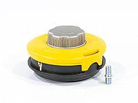 Катушка триммерная полуавтоматическая, легкая заправка лески, гайка M10x1,25, винт M10-M10, алюминиевая кнопка Denzel, фото 1