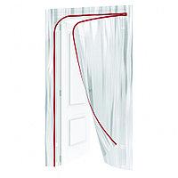 Пленочная дверь на молнии типа L,220 x 120 cm, с малярной лентой 2,5 см х 10 м Matrix