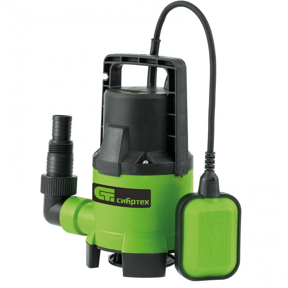 Дренажный насос для грязной воды СДН450-35, 450 Вт, напор 5,5 м, 8000 л/ч Сибртех