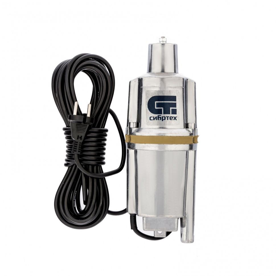 Вибрационный насос СВН300Н-10, нижний забор, 300 Вт, напор 75 м, 1200 л/ч, кабель 10 м Сибртех