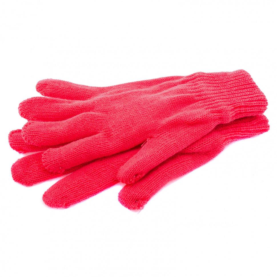 Перчатки трикотажные, акрил, двойные, коралл, двойная манжета Россия Сибртех