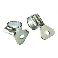 Хомуты металлические, червячные 12-20 мм, ширина 10 мм, W1, с металлическим ключом, 2 шт Сибртех
