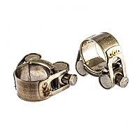 Хомуты металлические, силовые 23-25 мм, ширина 18 мм, шарнирный, W4, 2 шт Сибртех