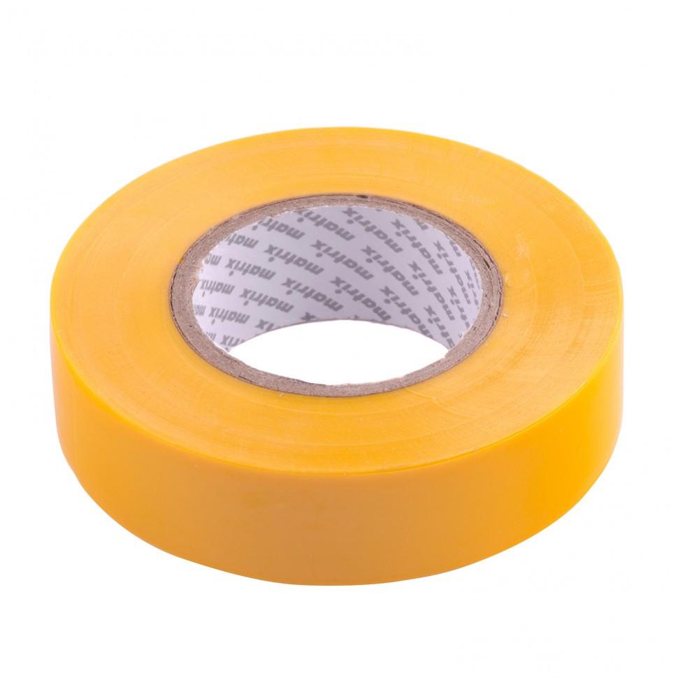 Изолента ПВХ, 19 мм х 20 м, желтая, 150 мкм Matrix