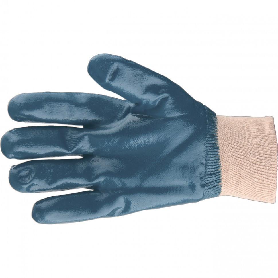 Перчатки трикотажные с обливом из бутадиен-нитрильного каучука, манжет, L Сибртех