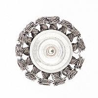 Щетка для дрели, 75 мм, плоская со шпилькой, крученая металлическая проволока 0,5 мм Сибртех