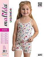 Комплект для девочки майка+шорты хлопок Турция 2-13 лет (в линейке 5 шт)