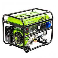 Генератор бензиновый БС-8000, 6,6 кВт, 230В, четырехтактный, 25 л, ручной стартер Сибртех, фото 1