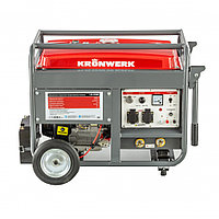 Бензиновая сварочная генераторная установка LK 210Е, 5.0 кВт, 220 В, бак 25 л, электростартер Kronwerk
