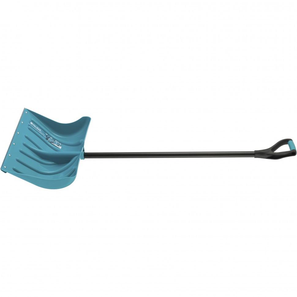 Лопата для уборки снега пластиковая LUXE,500х325х1300 мм, металлопластиковый черенок, Palisad