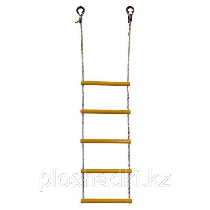 Лестница веревочная 5 деревянными ступеньками