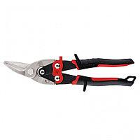 """Ножницы по металлу """"Piranha"""", 250 мм, прямой и левый рез, сталь СrMo, двухкомпонентные рукоятки Gross"""