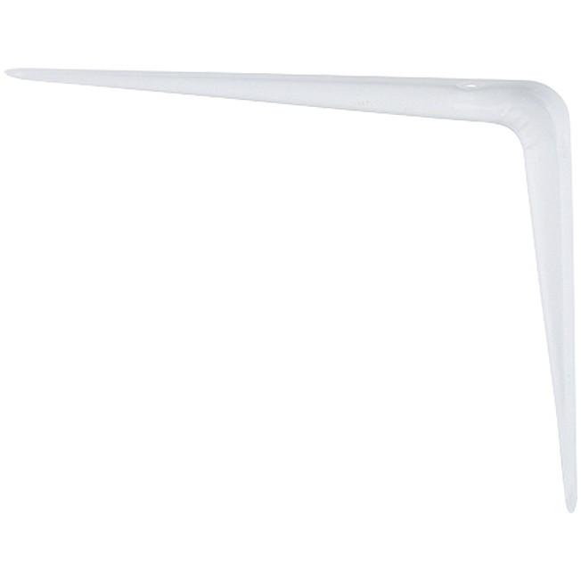 Кронштейн угловой с ребром, 175 х 225 мм, белый Сибртех