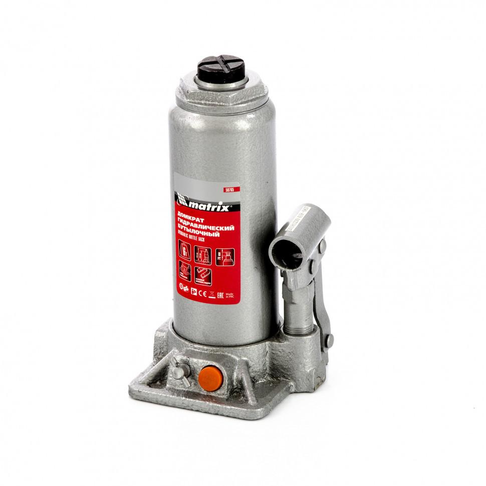 Домкрат гидравлический бутылочный, 6 т, h подъема 216-413 мм Matrix