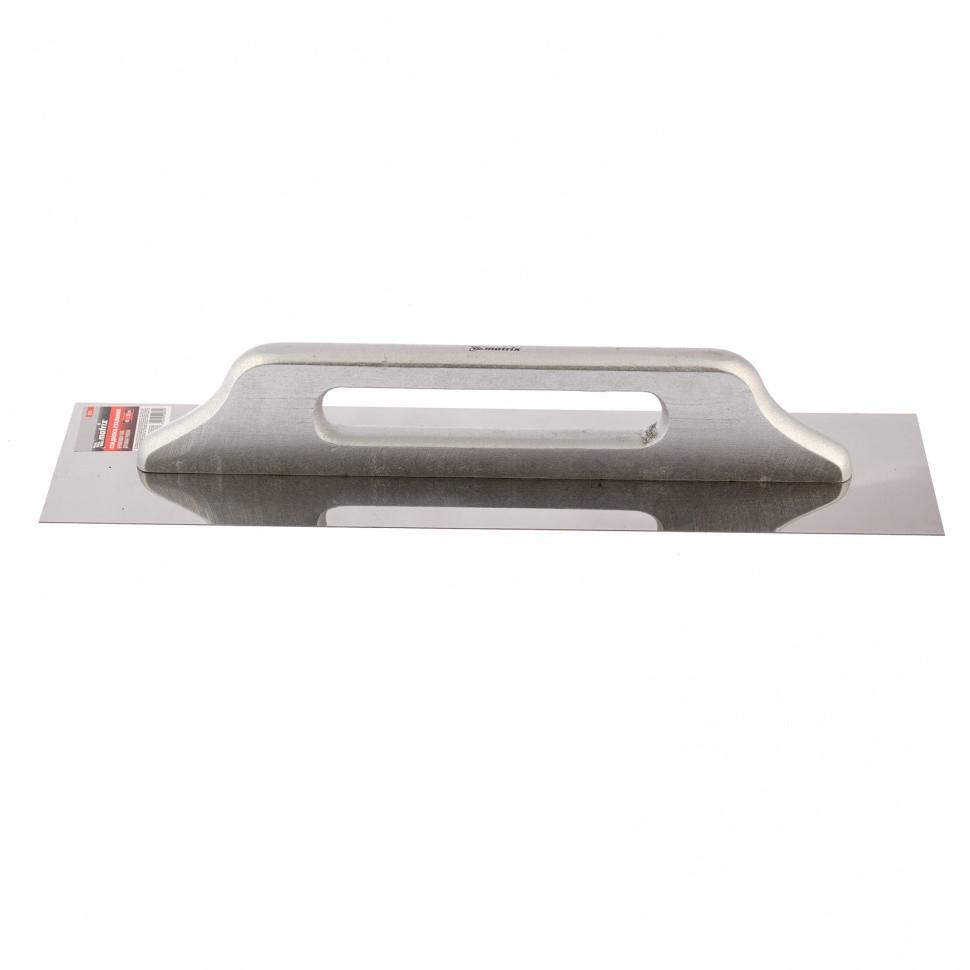 Гладилка из нержавеющей стали, 480 х 130 мм, деревянная ручка Matrix