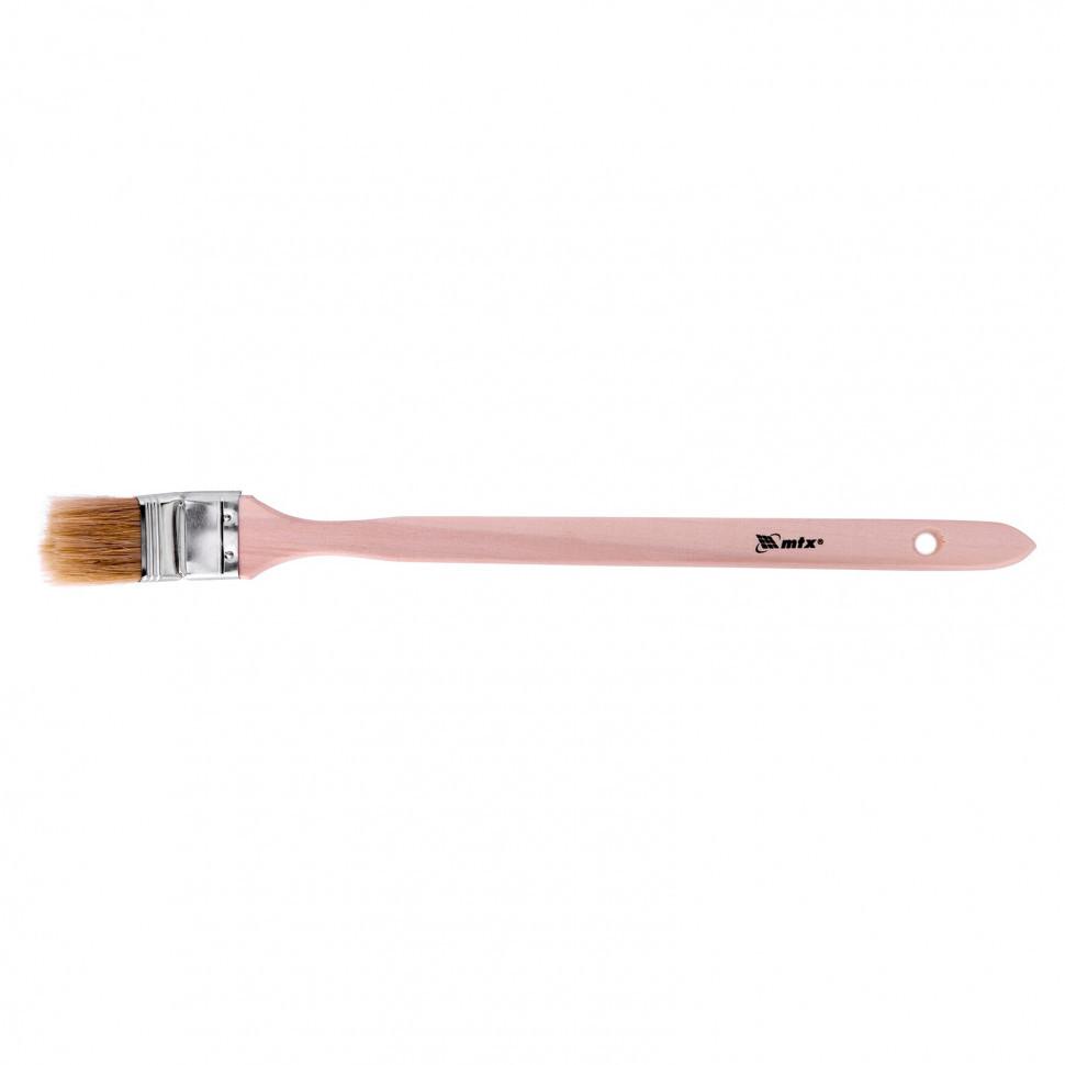 """Кисть радиаторная 1,5"""", натуральная щетина, деревянная ручка MTX"""