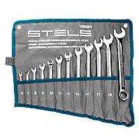 Набор ключей комбинированных 12 шт, 6-22 мм,антислип Stels, фото 1